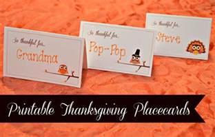 printable thanksgiving placecards creative market