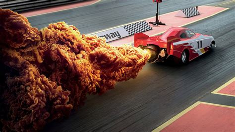 clever kfc ads perfectly replaced fire spicy fried chicken adweek
