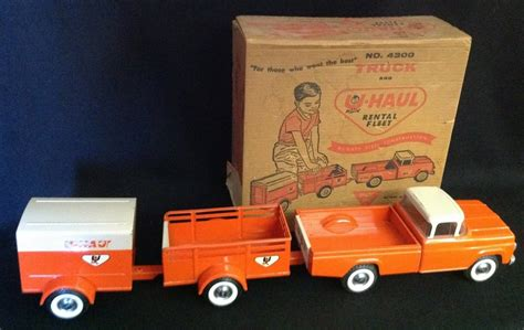 1960's Nylint 3 Pc U-haul Truck Rental Fleet No. 4300