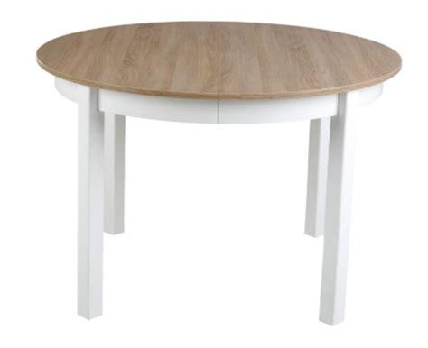 table ronde avec allonge ruben blanc ch 234 ne sonoma tables but