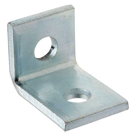 Diy Kitchen Storage Ideas - superstrut 2 hole 90 angle bracket silver galvanized zab201eg 10 the home depot