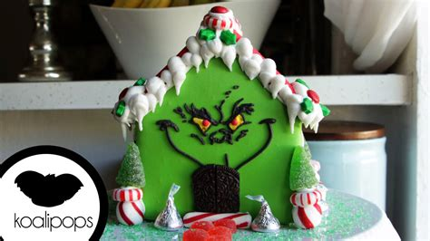 grinch gingerbread house   baking