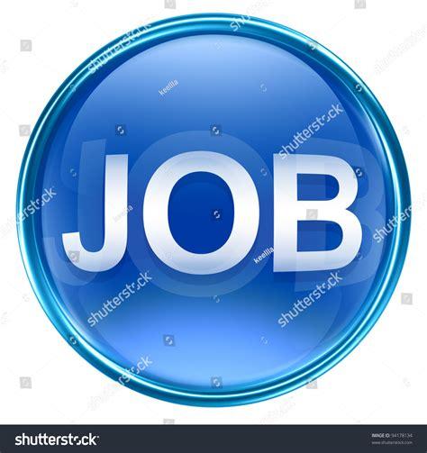 job icon blue isolated  white stock illustration