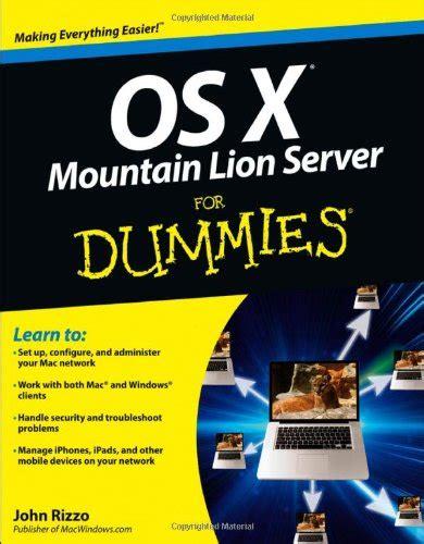 os x mountain server for dummies repost avaxhome