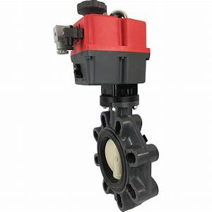 4 U2033 Electric Actuated Pvc Butterfly Valve 24 Dc