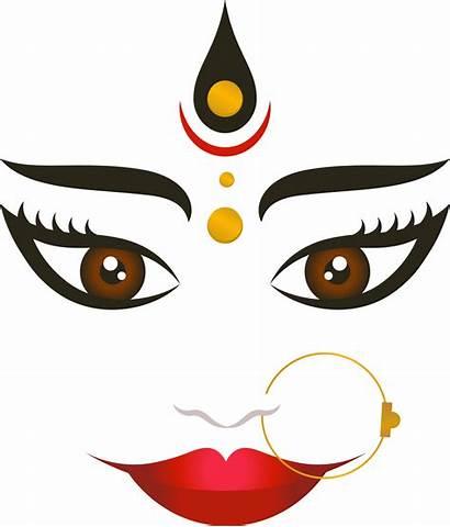 Durga Puja Face Navaratri Clipart Happy Happiness