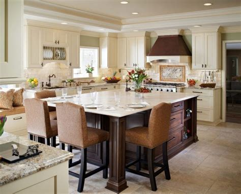 kitchen island with table combination furniture white cottage eat in kitchen photos hgtv dining