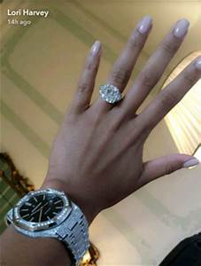 lori harvey flaunts her huge diamond engagement ring in With steve harvey wedding ring