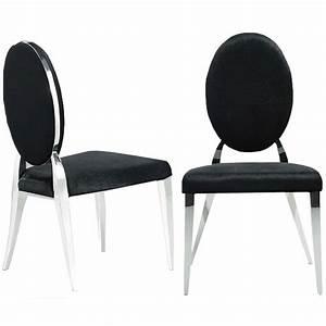 Chaise Velours Noir : chaise velour ~ Teatrodelosmanantiales.com Idées de Décoration