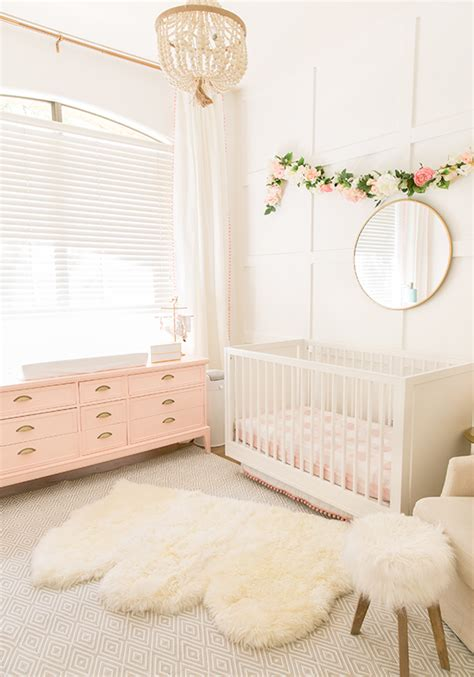 bright rugs the posh home blush pink baby nursery reveal