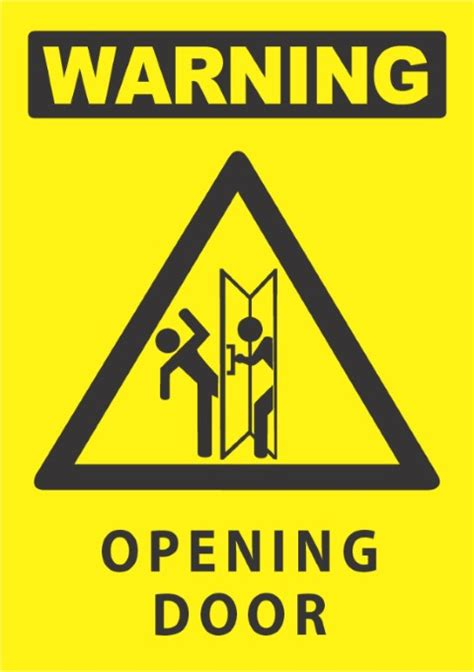 warning opening door xmm shop   safety