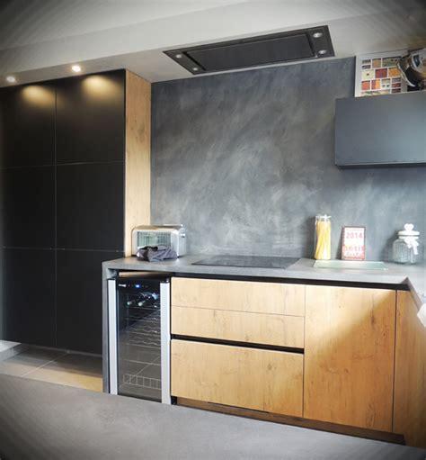 cuisine beton cire bois cuisines bois pour des cuisines lumineuses matières