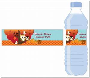 owl fall theme or halloween water bottle label baby With fall water bottle labels