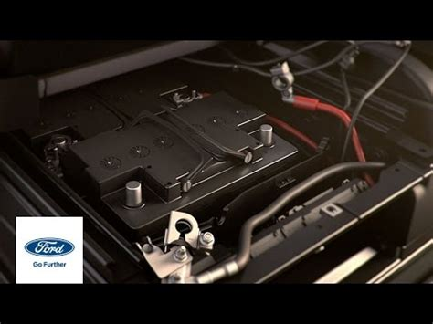 transit battery location ford   ford youtube