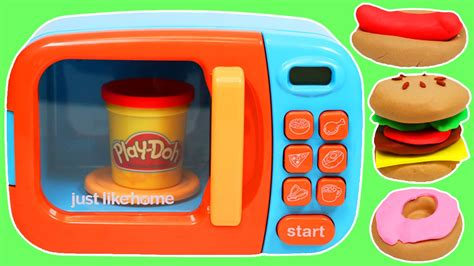 play doh cuisine pretend play doh foods with microwave oven
