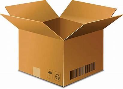 Box Vector Cardboard Carton Brown Background Illustrations