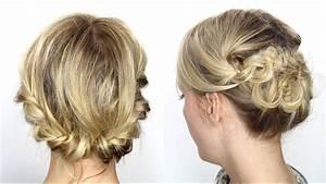 Coiffure Pour Cheveux Mi Longs : tutoriel coiffure facile cheveux mi longs courts youtube ~ Melissatoandfro.com Idées de Décoration