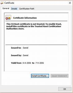 Strange CA certificate prompt - Information Security Stack ...
