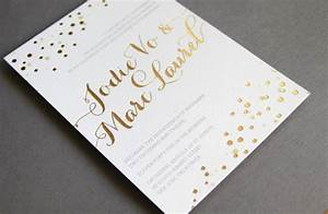 gold foil printing wedding invitations With wedding invitations with foil print