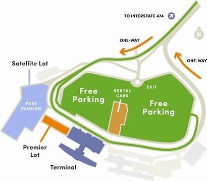 Airport Peoria Parking International Map Pia Maps