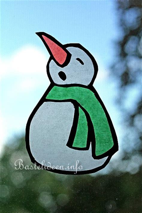 fensterbild transparentpapier winter weihnachtsbasteln und winterbasteln mit papier schneemann fensterbilder