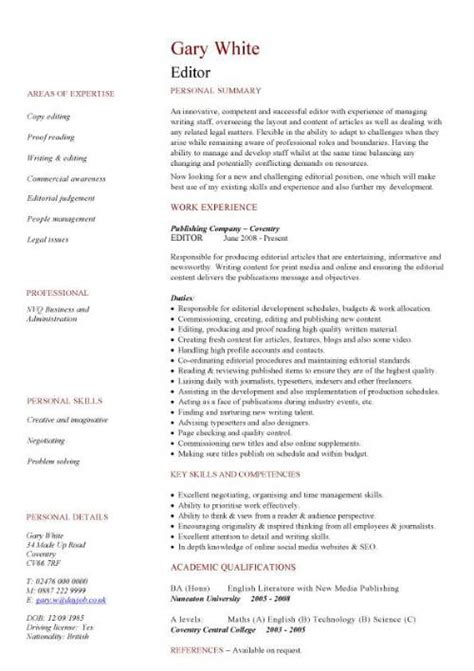 classic resume template template business