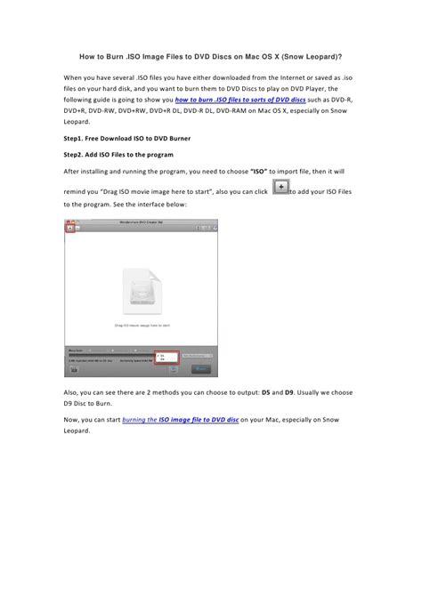 os mac leopard vmdk snow iso burn dvd vmware discs slideshare attach gb installation upcoming
