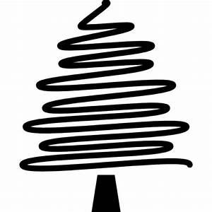 Natale disegno albero con un tratto di matita irregolare Scaricare icone gratis