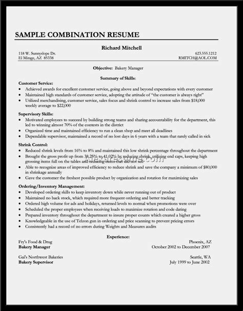 Sle Of Resume For Customer Service by Exle Of Resume Customer Service Customer Service