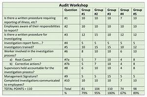 Audit scoring workshop