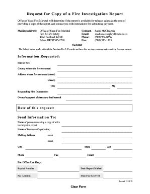 fire incident investigation form 96 fire investigation report forms sle fire
