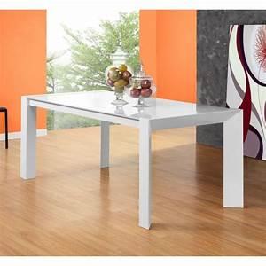 Table à Manger En Verre : dreamy table extensible 180 270cm en verre blanc achat vente table a manger seule dreamy ~ Teatrodelosmanantiales.com Idées de Décoration