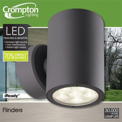 flinders led exterior up down wall light temple webster