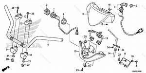 Honda Atv 2017 Oem Parts Diagram For Handlebar