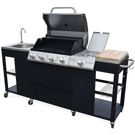 cuisine au barbecue barbecue au gaz d 39 artagnan cuisine extérieure soldes