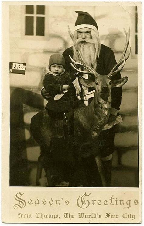 creepy vintage santa claus    give