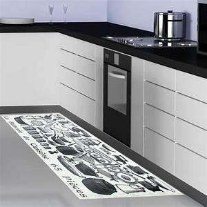 tapis de cuisine gris design cuisine naturelle With tapis cuisine design