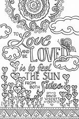Coloring Books Pages Adults Colouring Adult Printable Inkwelldesigners Table Marriage Quotes Quote Lo Trend Words Printables Custom Loved sketch template
