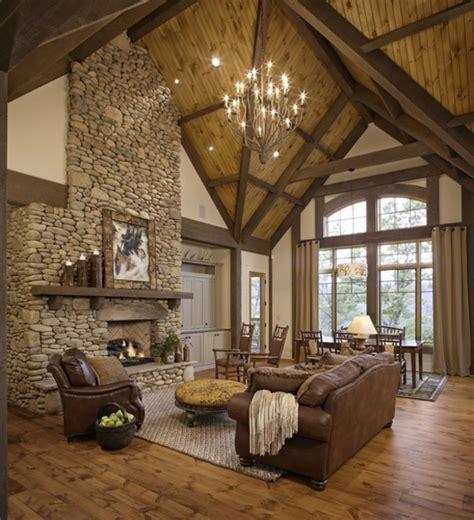 Schöneswohnzimmerrustikalgestalten Traumhaus
