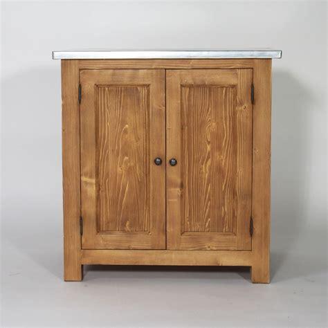 meuble de cuisine en bois meuble de cuisine en bois et plateau zinc cagne made