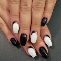 Acrylic nails designs black and white cute nail for