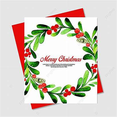 Christmas Watercolor Floral Cards Pngtree Template Premium