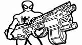 Coloring Nerf Gun Guns Pages Colouring Spiderman Drawing Rifle Sheets Fortnite Sheet Military Printable Boys Themed Getdrawings Getcolorings Modest Assault sketch template