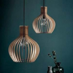 Natural, Wood, Pendant, Light