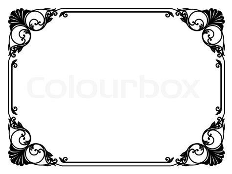 arabesque schlicht rahmen vektorgrafik colourbox