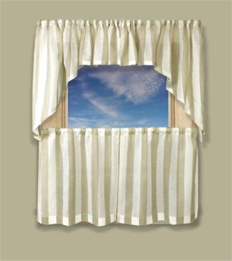 Coastal Stripe Tier Curtains available in 4 colors