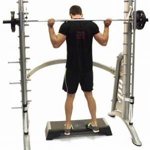 Smith Machine Calf Raises  Toes In