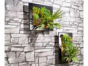 Büro Pflanzen Pflegeleicht : carlo milano vertikaler deko wandgarten nora 40 x 30 cm ~ Michelbontemps.com Haus und Dekorationen