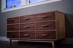 Mid, Century, Modern, Dresser, Dresser, Walnut, Dresser, Baltic