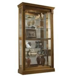 pulaski estate oak curio cabinet 20484